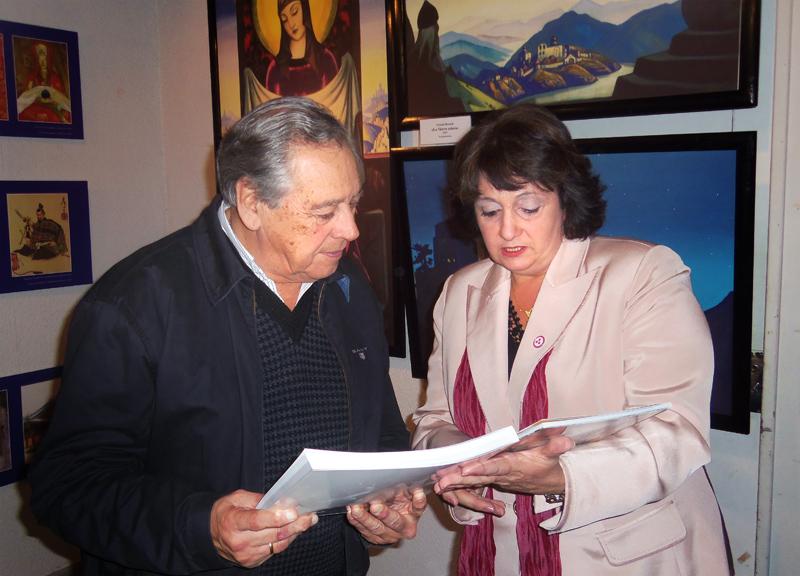 Президент организации «Унидем-Уругвай» Сусанна Галуссо и губернатор департамента Пайсанду Бертил Бентос