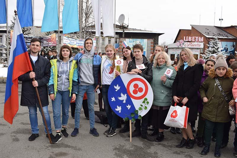 На главной площади г. Слюдянка была проведена районная Акция среди школ города Слюдянка № 2, 4, 49, 50 в честь Международного праздника «День Культуры под Знаменем Мира»