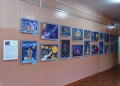 Закрытие выставки «Красота есть гимн Беспредельности» в школе № 42 г. Твери