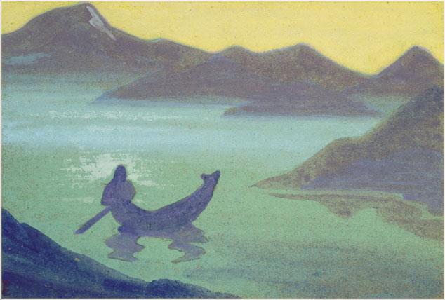 Картина Н.К.Рериха «Вестник от Гималаев». 1940