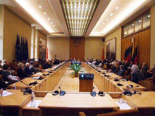 15 апреля 2009 г. Международная конференция в зале Конституции Парламента Литвы в Вильнюсе.