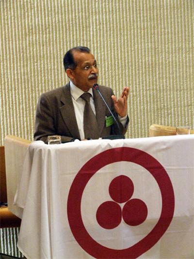 15 апреля 2009 г. Выступление посла Республики Индии в Литве и Польше Чандры Мохана Бхандари на Международной конференции в Сейме Литовской Республики.