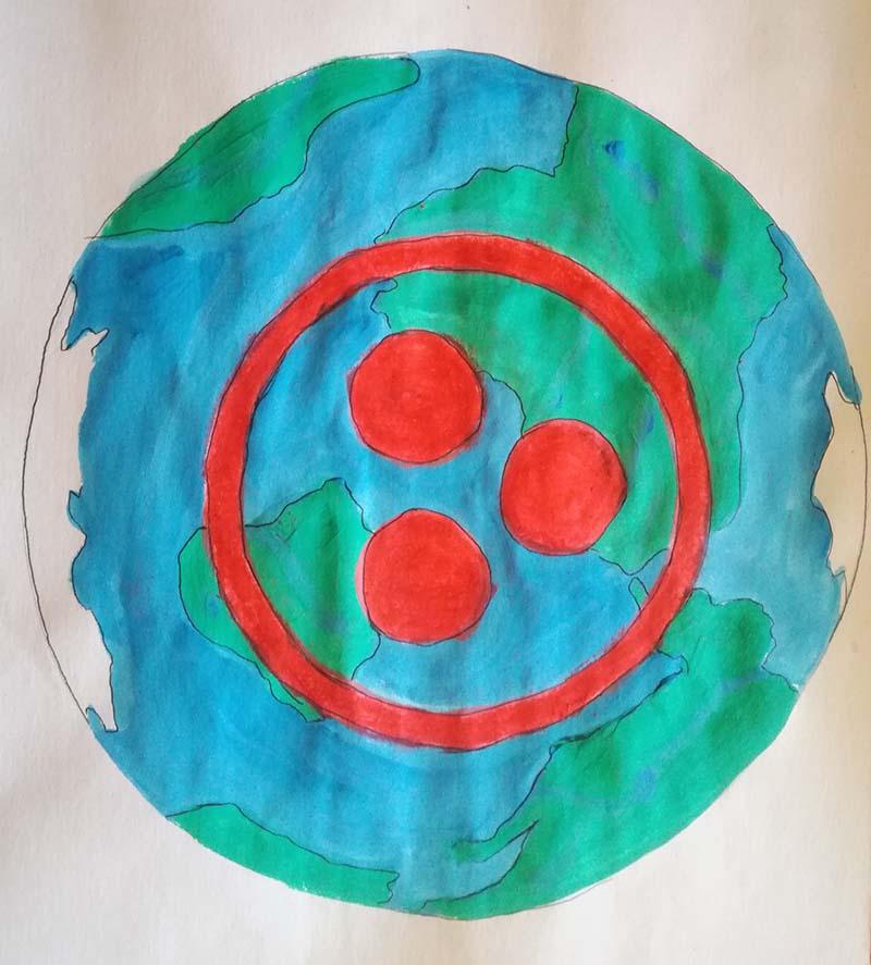 """Рисунок """"Планета единства"""". Оглоблина Арина, МБДОУ «Детский сад общеразвивающего вида № 5 г. Слюдянки»"""