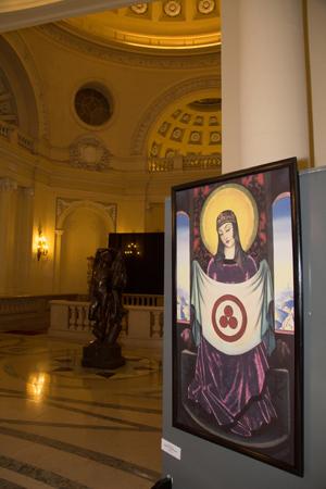 Вид картины «Мадонна Орифламма»