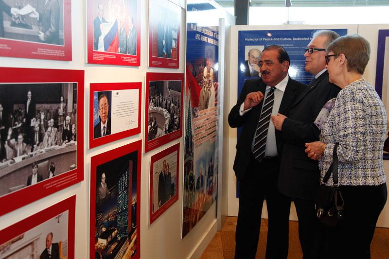 Часть экспозиции, посвященная деятельности выдающегося дипломата, борца за мир и культуру Ю.М. Воронцова