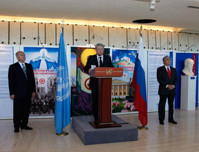 Выступает постоянный представитель РФ при Отделении ООН и других международных организаций в Женеве А.Н. Бородавкин