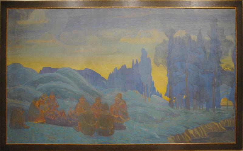 Н.К. Рерих. Поморяне. Вечер. 1907