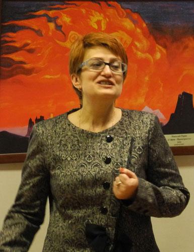 Заместитель по социальным вопросам главы администрации Очерского муниципального района Е.В. Гусева