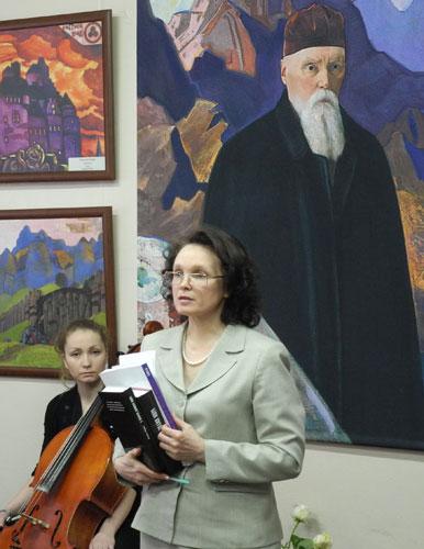Выступление О.Н.Калинкиной, председателя Пермского регионального отделения Международной Лиги защиты культуры
