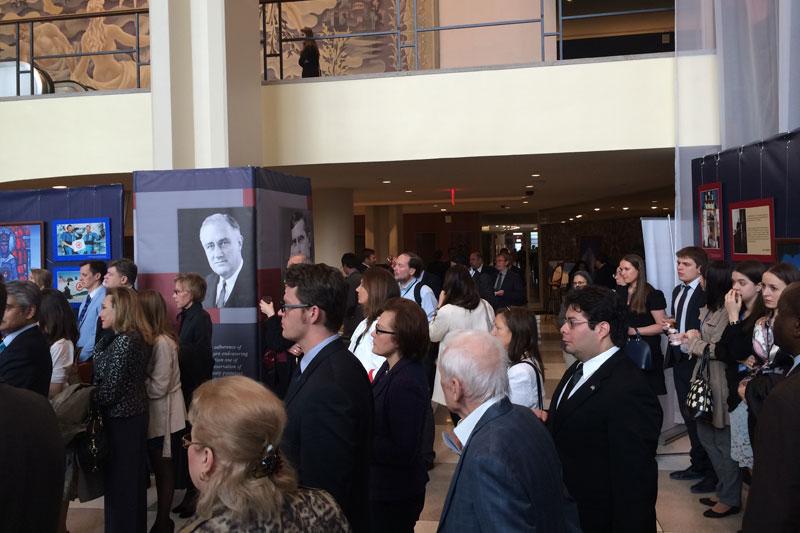 Открытие выставки по Пакту Рериха в штаб-квартире ООН в Нью-Йорке
