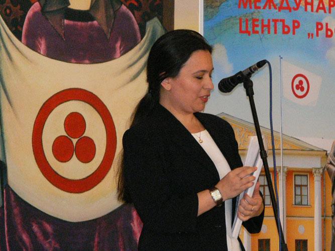 Марга Куцарова, руководитель филиала МЦР в Болгарии, председатель Национального общества имени Рерихов