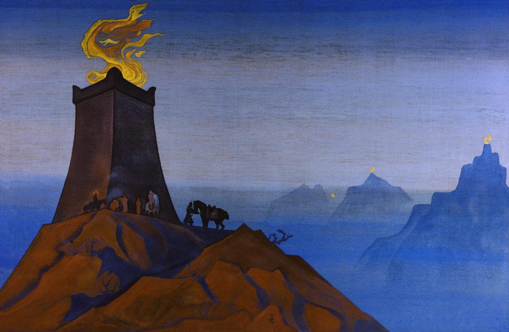 Картина Н.К.Рериха «Цветы Тимура». 1931