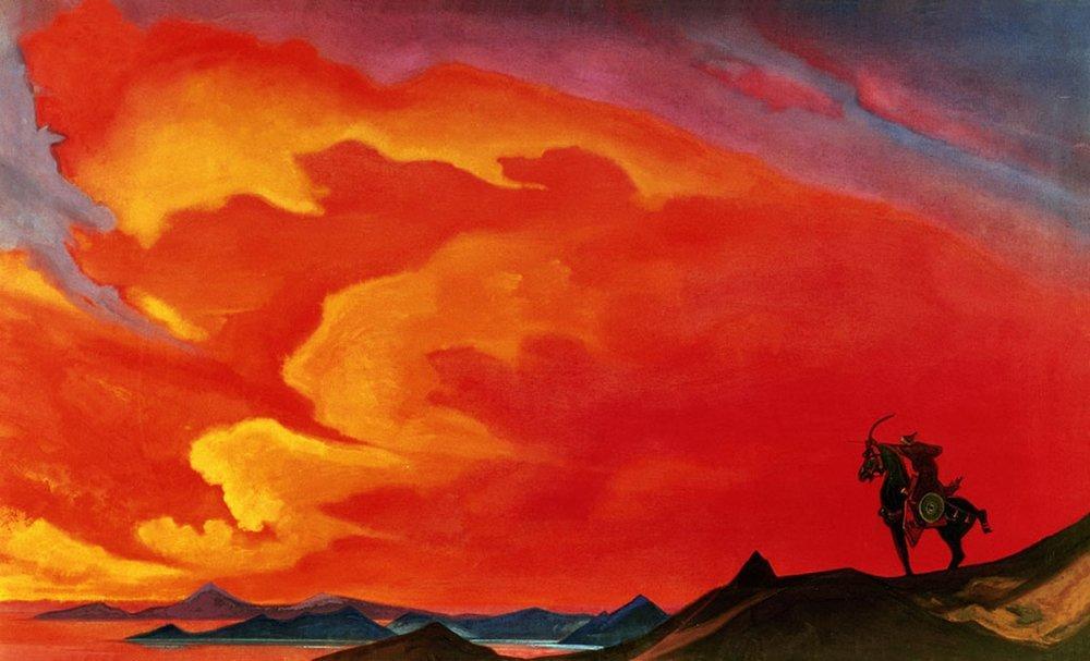 Картина Н.К.Рериха «Гесэр-хан». 1941