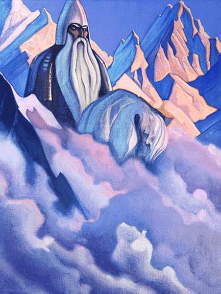 Картина Н.К.Рериха «Святогор». 1938