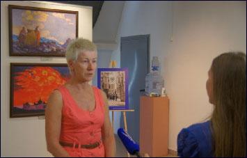 Директор Музея Кузина Е.М. дает интервью  Самарскому телерадиоканалу «Губерния»