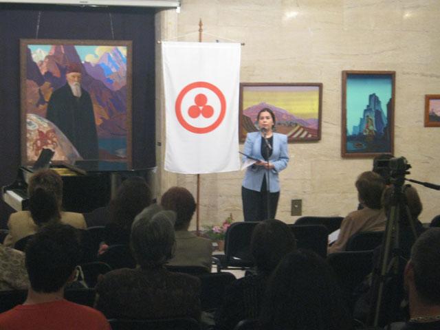 Председатель Национального общества имени Рерихов – Болгарского отделения МЦР Марга Куцарова