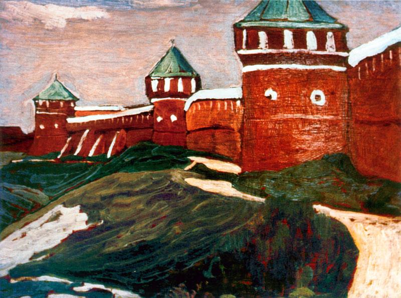 Н.К. Рерих. Суздаль. Стены Спасо-Евфимиева монастыря. 1903