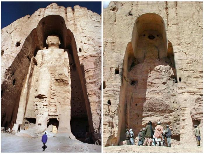 Бамианские статуи Будды.