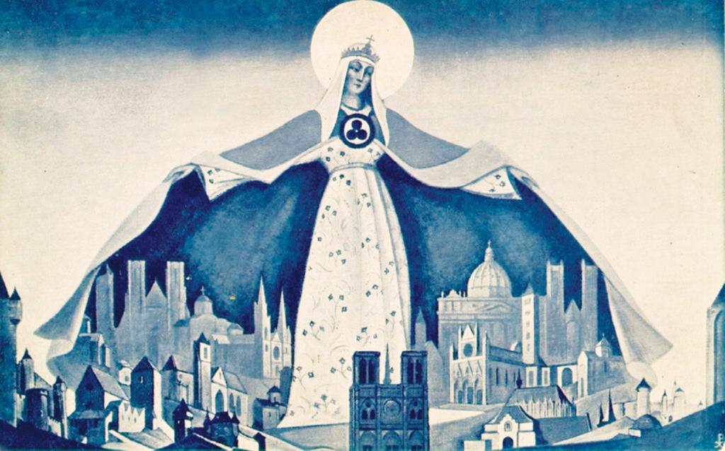 Н.К. Рерих. Мадонна Защитница. 1933