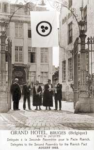 Делегаты Второй международной конференции, посвященной Пакту Рериха. Брюгге, Август 1932 г.