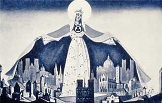 Н.К.Рерих. Мадонна - Защитница. 1933